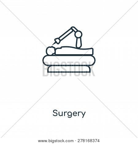 Surgery Icon In Trendy Design Style. Surgery Icon Isolated On White Background. Surgery Vector Icon