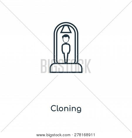 Cloning Icon In Trendy Design Style. Cloning Icon Isolated On White Background. Cloning Vector Icon
