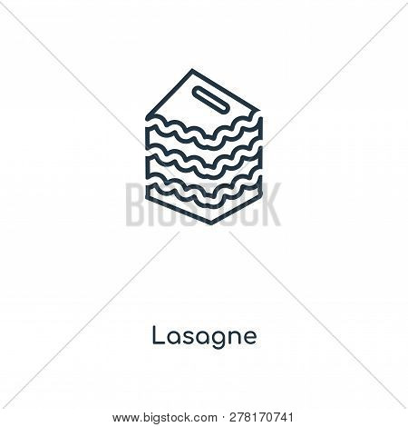 Lasagne Icon In Trendy Design Style. Lasagne Icon Isolated On White Background. Lasagne Vector Icon