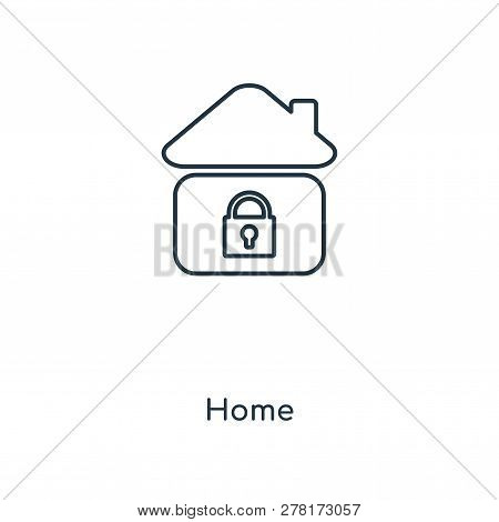 Home Icon In Trendy Design Style. Home Icon Isolated On White Background. Home Vector Icon Simple An