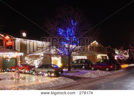 Lighted Neighborhood