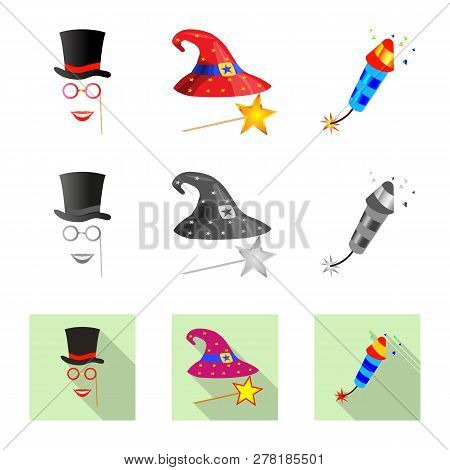 Isolated Object Of Party And Birthday Icon. Collection Of Party And Celebration Vector Icon For Stoc