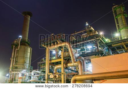 Oil refinery gas industry plant of petroleum industry production