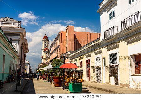 Cienfuegos, Cuba - 2019. Travel Photo Of Cienfuegos Commercial Area. Cienfuegos Province, Cuba.