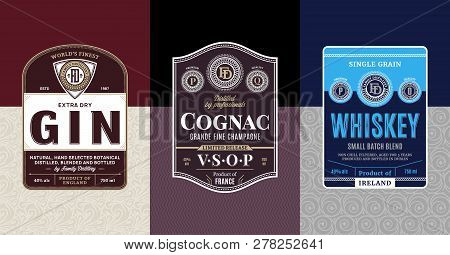 Alcoholic Drinks Vintage Labels