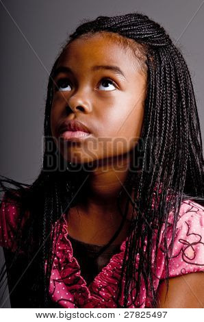 Portrait of a Young African American girl