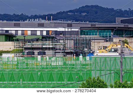Gosford, New South Wales, Australia - November 27, 2018: Construction And Building Work On Gosford H