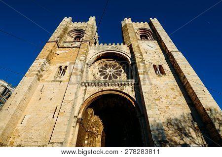 Patriarchal Cathedral Of St. Mary Major, Santa Maria Maior De Lisboa Or Se De Lisboa, In Lisbon, Por