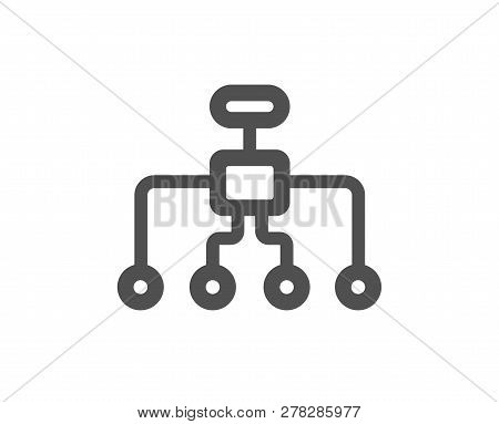 Restructuring Icon. Business Architecture Sign. Delegate Symbol. Quality Design Element. Classic Sty
