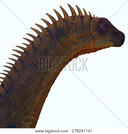 Alamosaurus Dinosaur 3d Illustration - Alamosaurus Was A Titanosaur Sauropod Herbivorous Dinosaur Th