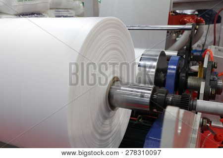 Winding Unit Of Extrusion Plastic Film Blowing Machine ; Close Up