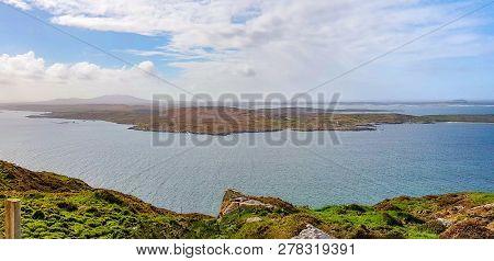 Idyllic Coastal Scenery Around Sky Road In Connemara, A Region In Western Ireland