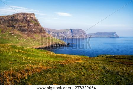 Island Isle Of Skye, Scotland. Beautiful Scottish Landscape
