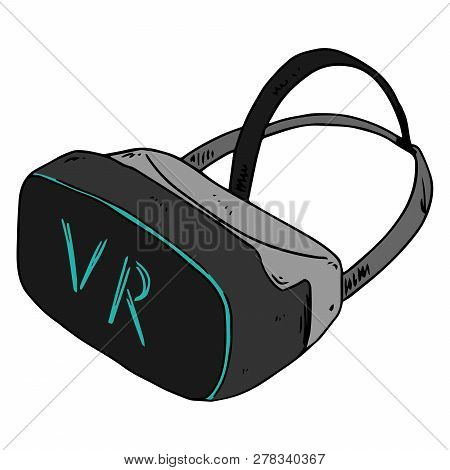 Glasses Of Virtual Reality Hand Drawn. Vector Illustration Of Virtual Riality Glasses. Vr Icon.