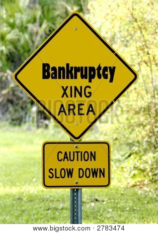 Sign Of Bankruptcy