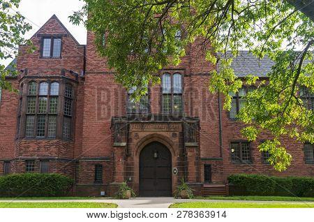 Milwaukee, Wi/usa -september 2, 2018: chapman Hall Building At University Of Wisconsin Milwaukee. T