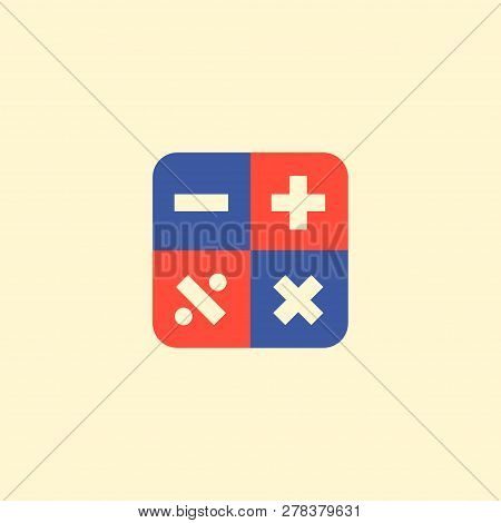 Calculator Icon Flat Element. Vector Illustration Of Calculator Icon Flat Isolated On Clean Backgrou