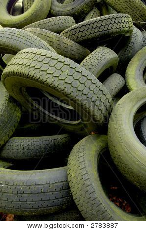 Abandoned Car Tyres