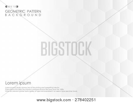 Abstract Of Pentagon Geometric Pattern Gradient White Background, Vector Eps10