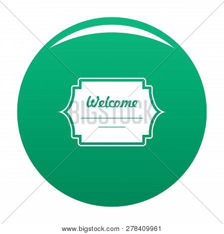 Well Met Label Icon. Simple Illustration Of Well Met Label Vector Icon For Any Design Green