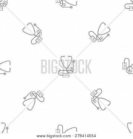 Stethoscope Blood Presure Icon. Outline Illustration Of Stethoscope Blood Presure Vector Icon For We