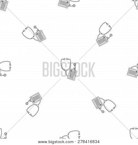 Stethoscope, Medical Icon. Outline Illustration Of Stethoscope, Medical Vector Icon For Web Design I