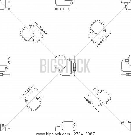 Stethoscope, Syringe Icon. Outline Illustration Of Stethoscope, Syringe Vector Icon For Web Design I