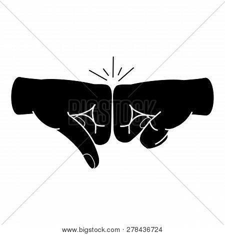 Friends Fist Knock Icon. Simple Illustration Of Friends Fist Knock Vector Icon For Web Design Isolat