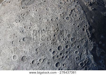 A Picture Of Craters On The Surface Of The Moon.