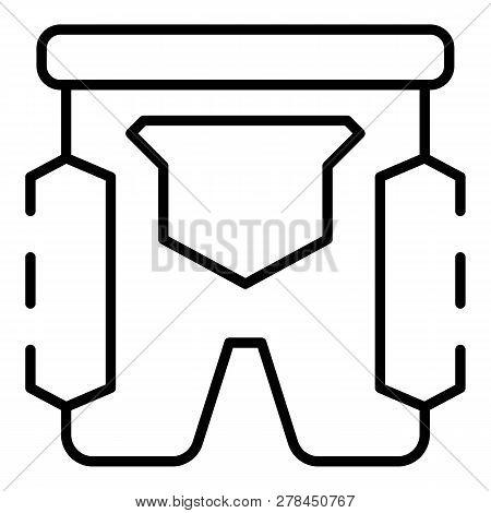 Ski Shorts Icon. Outline Ski Shorts Vector Icon For Web Design Isolated On White Background