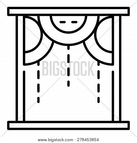 Room Circle Shade Window Icon. Outline Room Circle Shade Window Vector Icon For Web Design Isolated