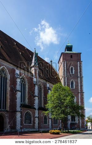 Muenster To The Beautiful Of Our Dear Woman In Ingolstadt With Blue Himmel, Bavaria Germany