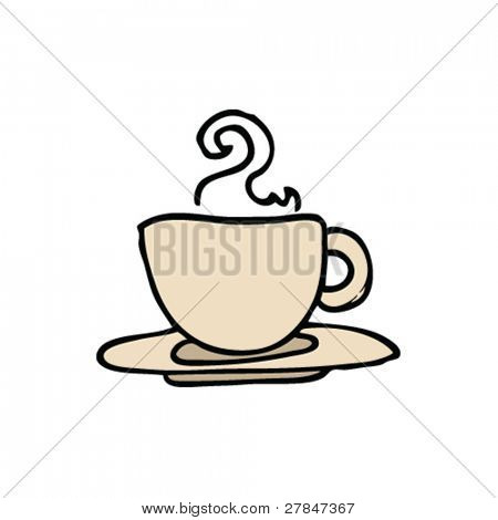 drawing of a coffee cup