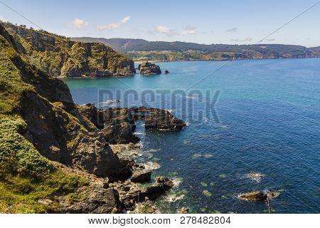 Cliffs In Viveiro Lugo España Called Fuciño Do Porco