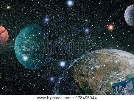 Space Many Light Years Far From The Earth. Elements Of This Image Furnished By Nasa