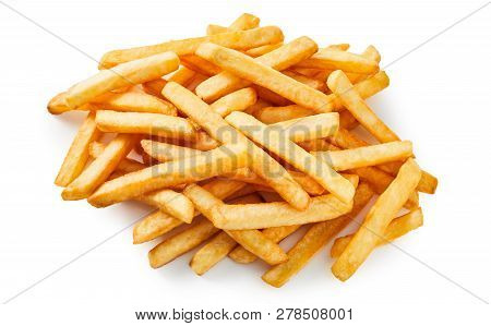 Pile Of Takeaway Golden Fried Potato Chips