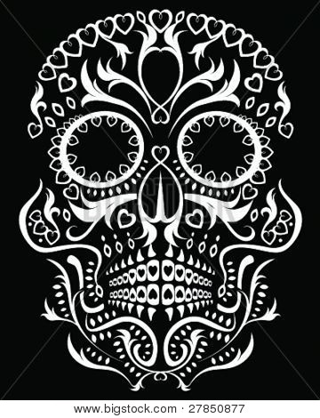 Day of the dead skull