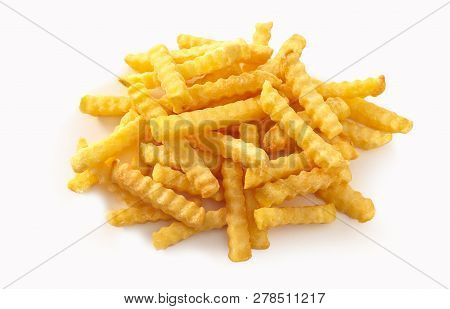 Stack Of Rippled Fries