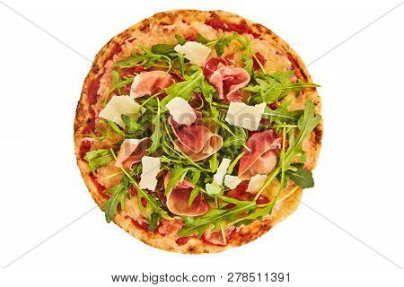 Whole Oven Baked Prosciutto And Rocket Pizza
