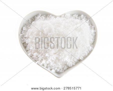Heart Shaped Bowl Of Flor De Sal