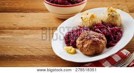 German Or Bavarian Meatball With Dumplings