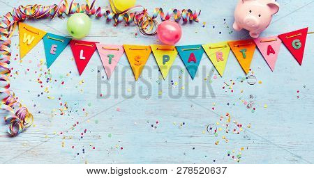 Festive Flag Bunting With Weltspartag