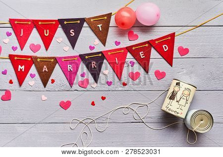 Just Married Celebratory Bunting