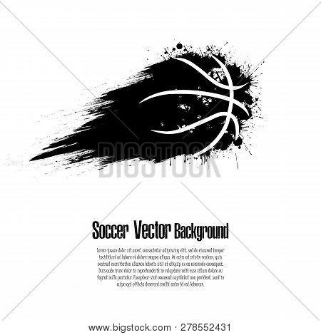 Grunge Basketball Background. Abstract Basketball Ball Made From Blots. Basketball Design Pattern. V