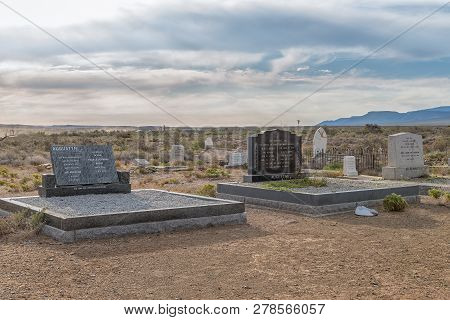 Tankwa Karoo National Park, South Africa, August 30, 2018: An Historic Cemetery In The Tankwa Karoo
