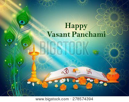 Goddess Saraswati For Vasant Panchami Puja Of India