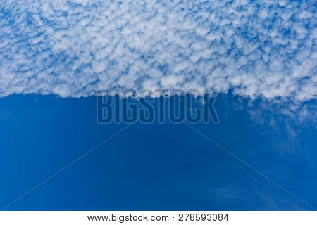 Beautiful White Clouds With Blue Sky Background.