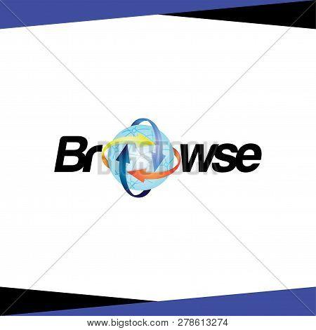 Browse Internet Logo Vector Template. Vector Stock
