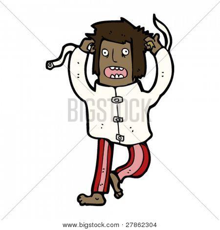 crazy person cartoon