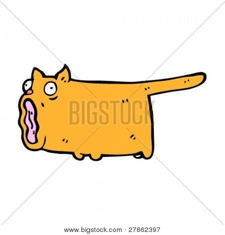 straining cat cartoon